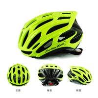 Mannen Vrouwen Groene Ultralight Fiets Fietshelm Integraal gevormde MTB Racefiets Helm Capacete Casco Ciclismo