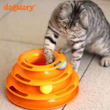 New Style Funny Pet Cat Toys Plastic Intelligence Three Layers Turntable Pet Toys Balls Pet Products Wholesale Sales