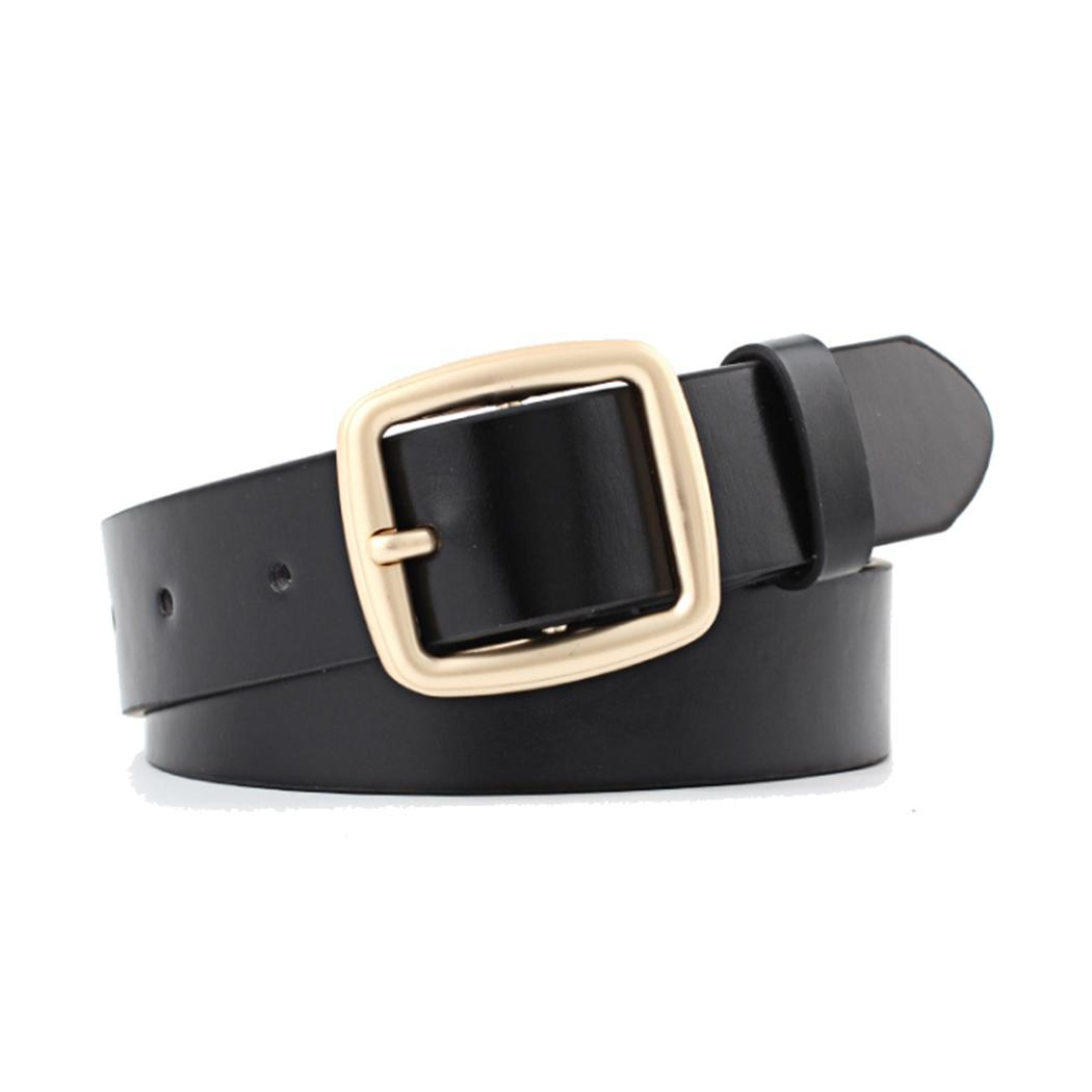Women Casual Solid Pin Buckle Waistband Belt Adjustable Suitable for any adult women Leather Waist Belt(China)