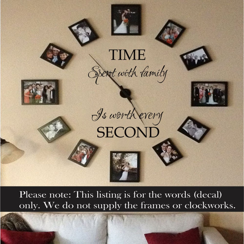 Family Wall Decal Our Family Family Quote Time Spent With Family is worth every second Christian Wall Decals 29  x34 -in Wall Stickers from Home u0026 Garden on ... & Family Wall Decal Our Family Family Quote Time Spent With Family is ...