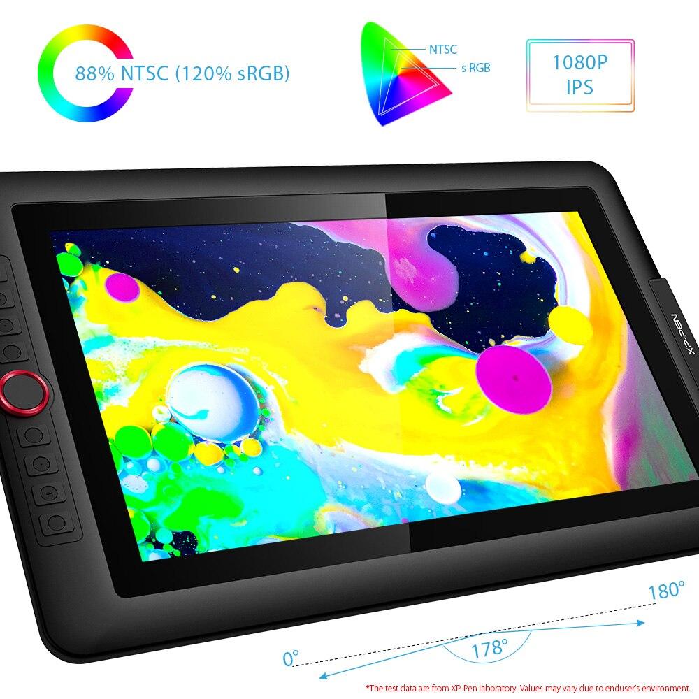 XP-Pen Artist15.6 Pro tablette de dessin moniteur graphique tablette numérique cadran rouge avec 60 degrés de fonction d'inclinaison et 8 touches express - 3