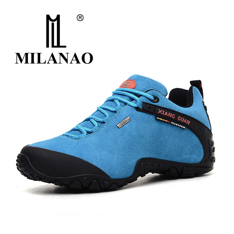 MILANAO man outdoor hiking shoes slip resistant waterproof hiking Sneaker man Anti fur sports sneakers high quality 36-45 yin qi shi man winter outdoor shoes hiking camping trip high top hiking boots cow leather durable female plush warm outdoor boot