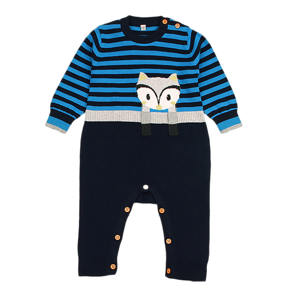 Cheelibaby Brand Baby Rompers 2018 Long Sleeve Knitted Infant  Boys Costume Toddler Newborn Onesie Cartoon Girl Jumpsuit Clothes new brand baby clothes infant rompers hooded cartoon bear girls long sleeve baby jumpsuit newborn cotton soft warm boys product