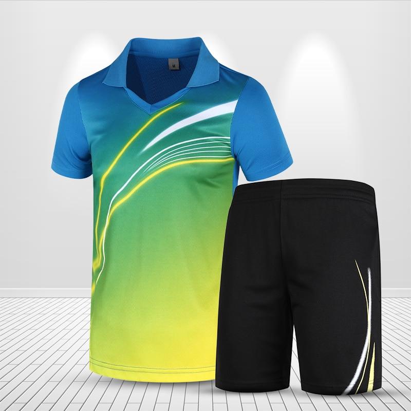 Badminton Uniform Men Women Sports Clothing Table Tennis Clothes Tennis Sets Badminton Outfits Speed Dry Wear T shirt Shorts