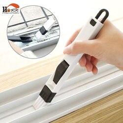 2 em 1 multi-função janela slot escova com tela dustpan teclado gaveta guarda-roupa canto lacuna remoção de poeira escova de limpeza