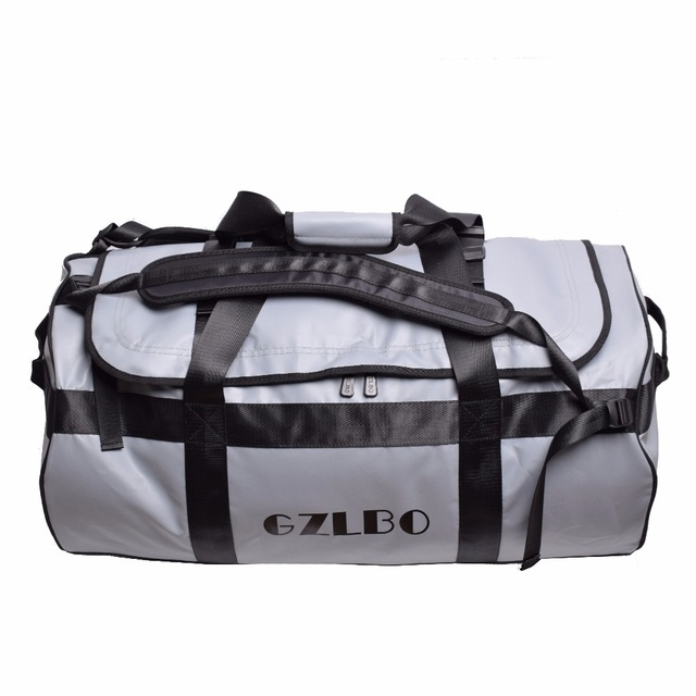 Gzlbo 90l Large Capacity Por Pvc Waterproof Bag Grey Travel Duffel