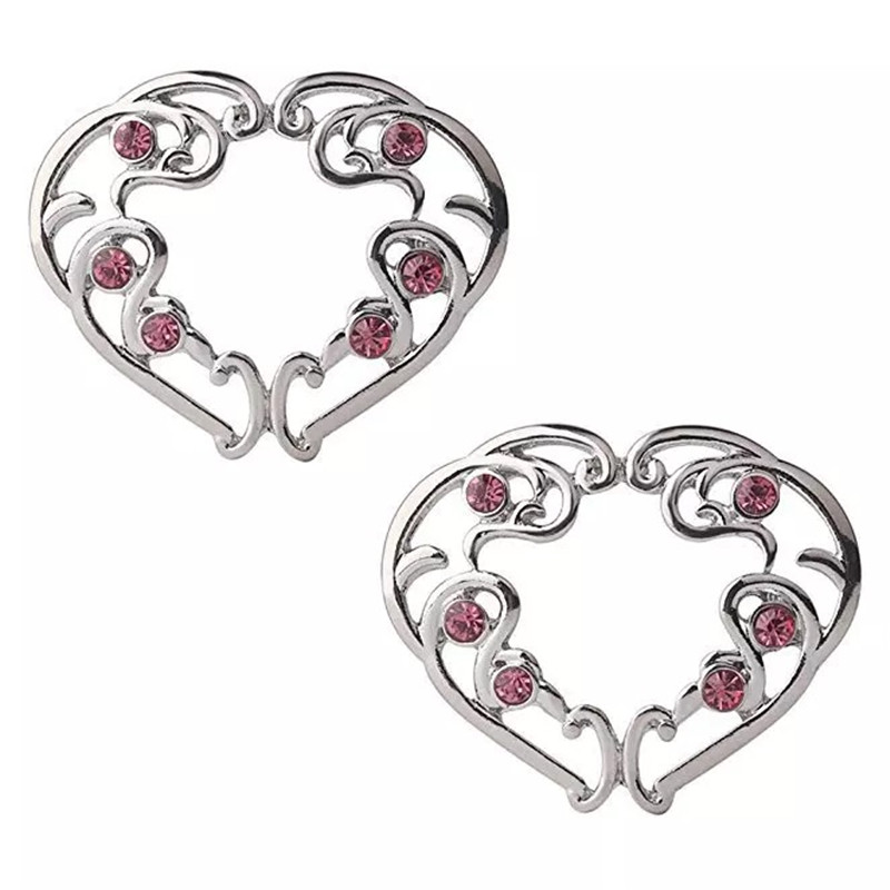 2pcs Punk Red Heart Clip On...