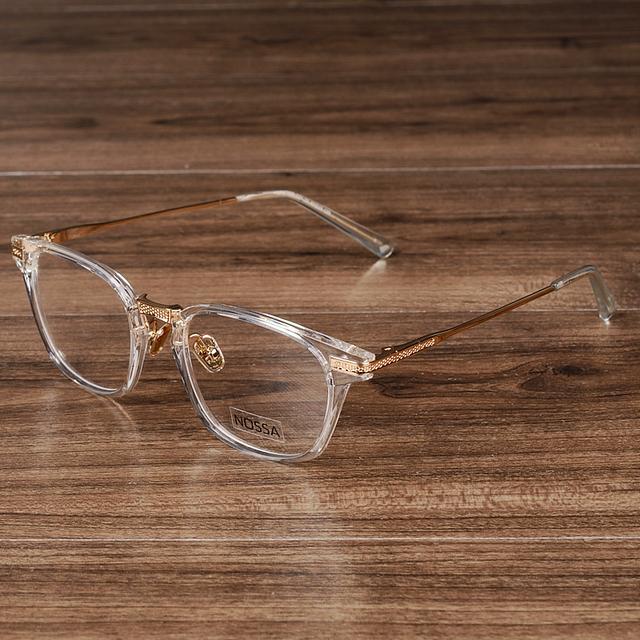 NOSSA Marca de Grife Mulheres E Homens Óculos Grandes óculos de Armação Transparente Floral Óculos de Miopia Quadros de Óculos de Prescrição Do Vintage