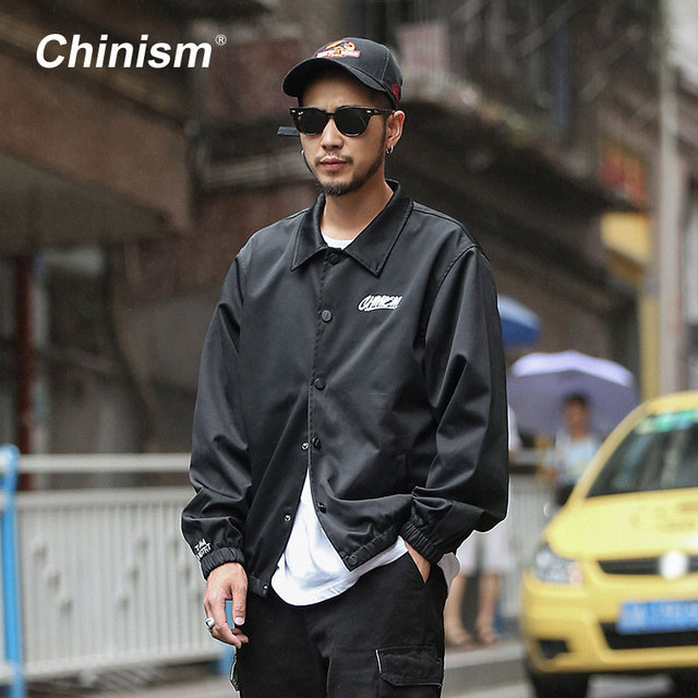 CHINISM 2017 New Autumn Fashion Windproof Brand Jacket Couple Lover Purpose Tour Jacket men Pure Black mens Jackets