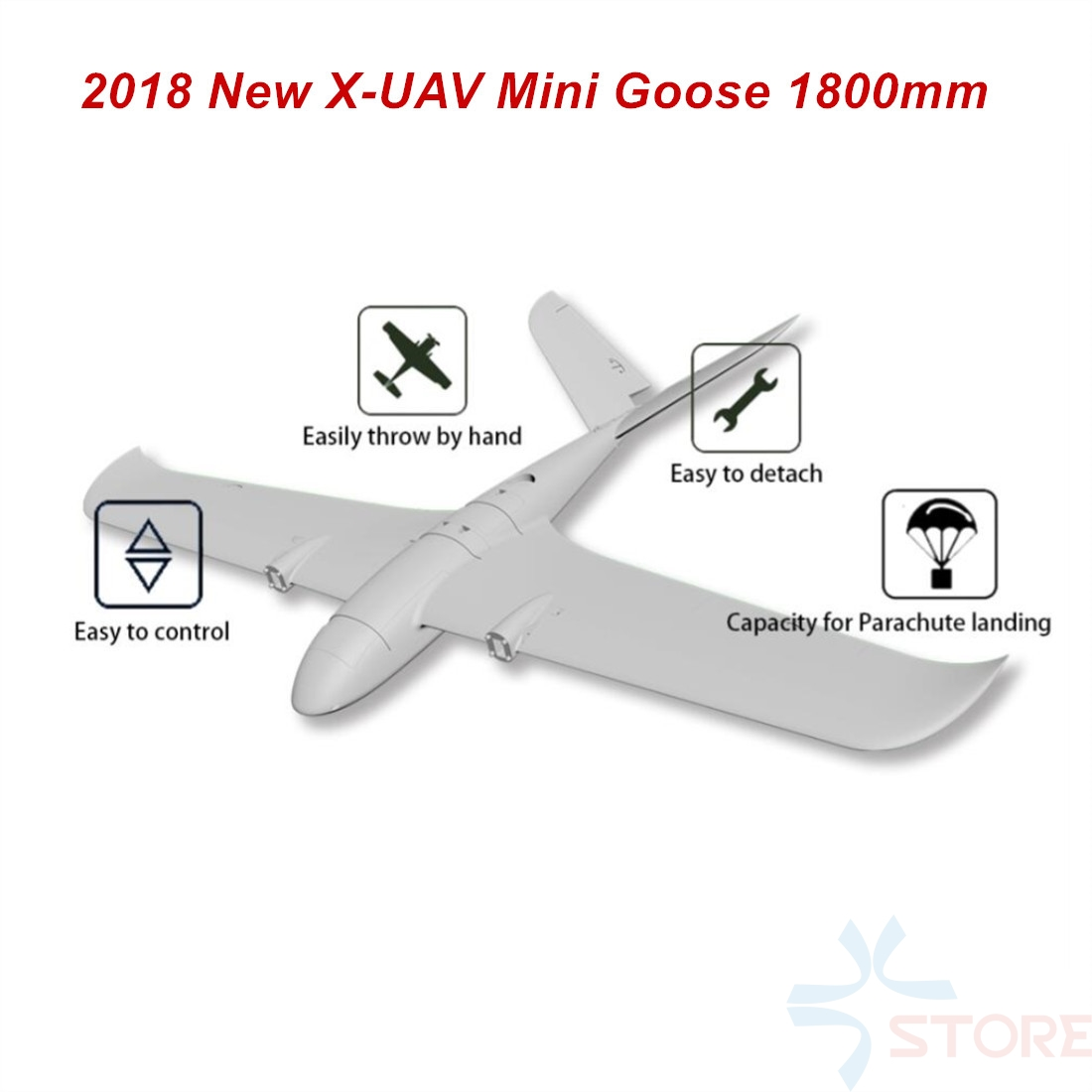 X-UAV TJL Mini Goose 1800mm Wingspan EPO Fixed Wings RC Airplane Frame FPV/Mapping believer uav 1960mm wingspan epo portable aerial survey aircraft rc airplane kit best designed mapping platform as clouds