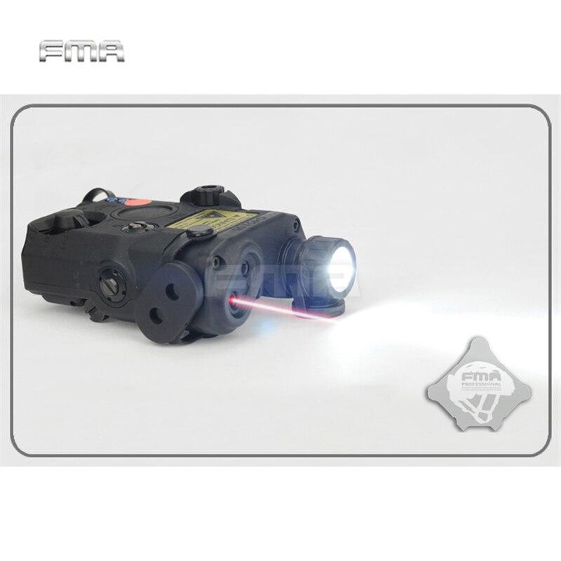 FMA PEQ-15 LA5 Versão de Atualização Lanterna LED Branco + Vermelho laser com Lentes IR Tático Rifle de Caça Airsoft Caixa de Bateria TB0074