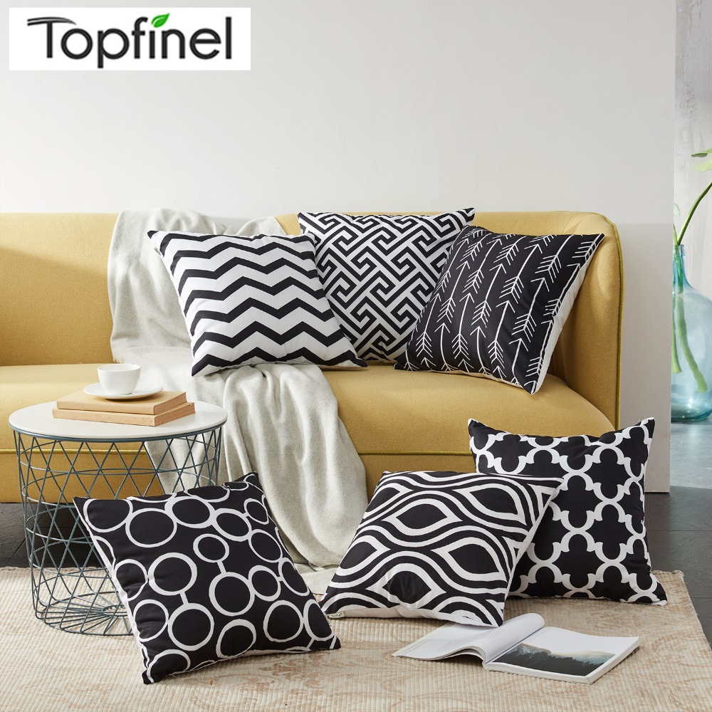 Awe Inspiring Us 2 99 50 Off Nordic Style Geometric Decorative Cushion Covers Cotton Linen Throw Pillow Cover For Sofa Couch Chair Seat Bed Black Color In Cushion Creativecarmelina Interior Chair Design Creativecarmelinacom