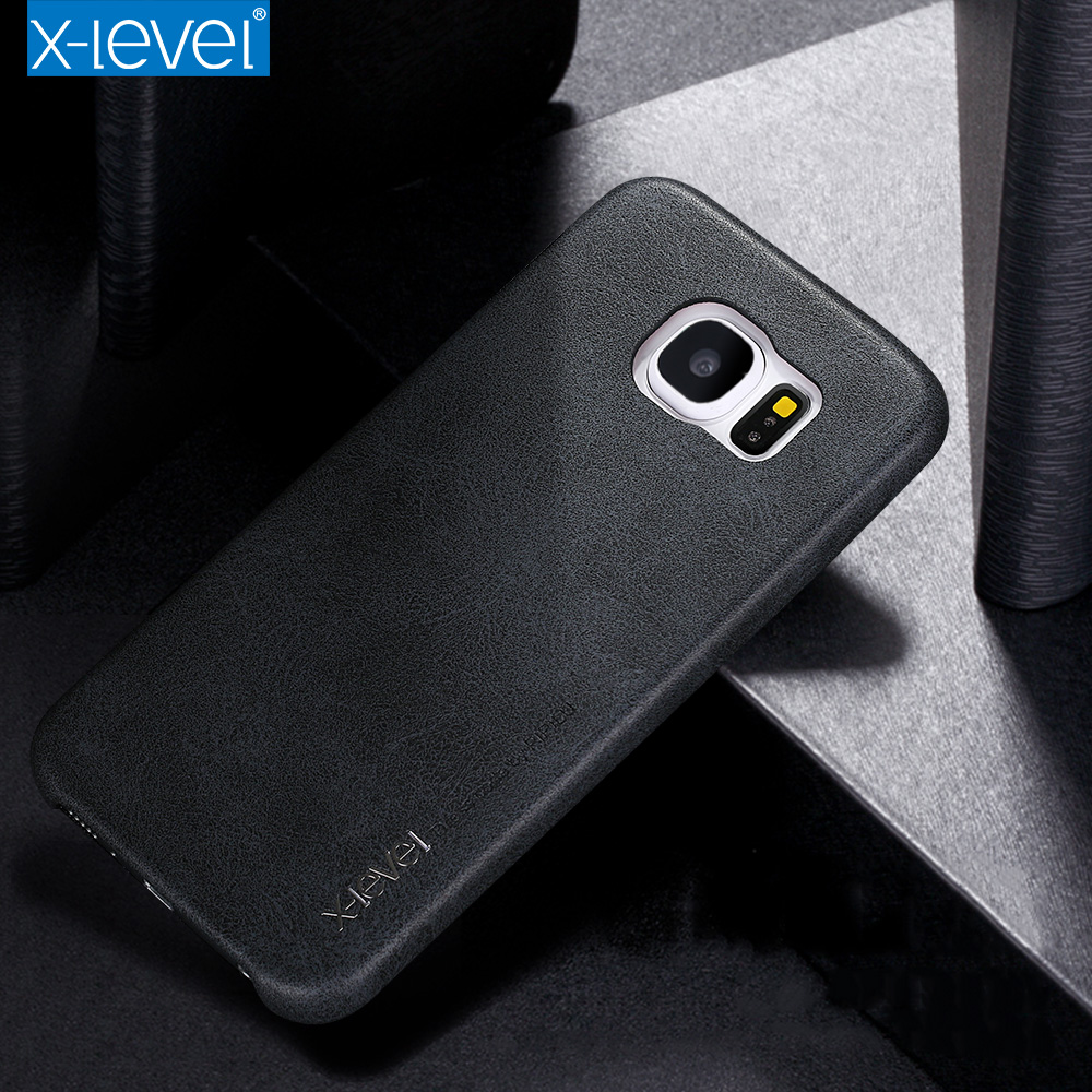new styles ab633 a127c US $10.87 | X level Case For Samsung Galaxy S6/ Edge/ Edge Plus Case Luxury  Slim Soft Leather Back Cover For Samsung S6 Edge Vintage Cases-in Fitted ...