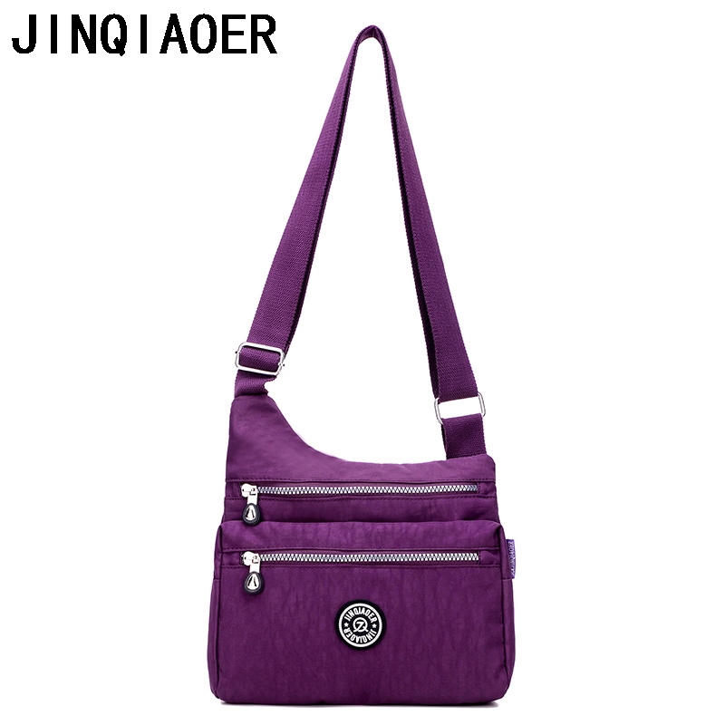 Women Crossbody Bags Female Messenger Bag Nylon Women Top-Handle Shoulder Bags Fashion Ladies Handbags School Tote Sac women shoulder bags leather handbags shell crossbody bag brand design small single messenger bolsa tote sweet fashion style
