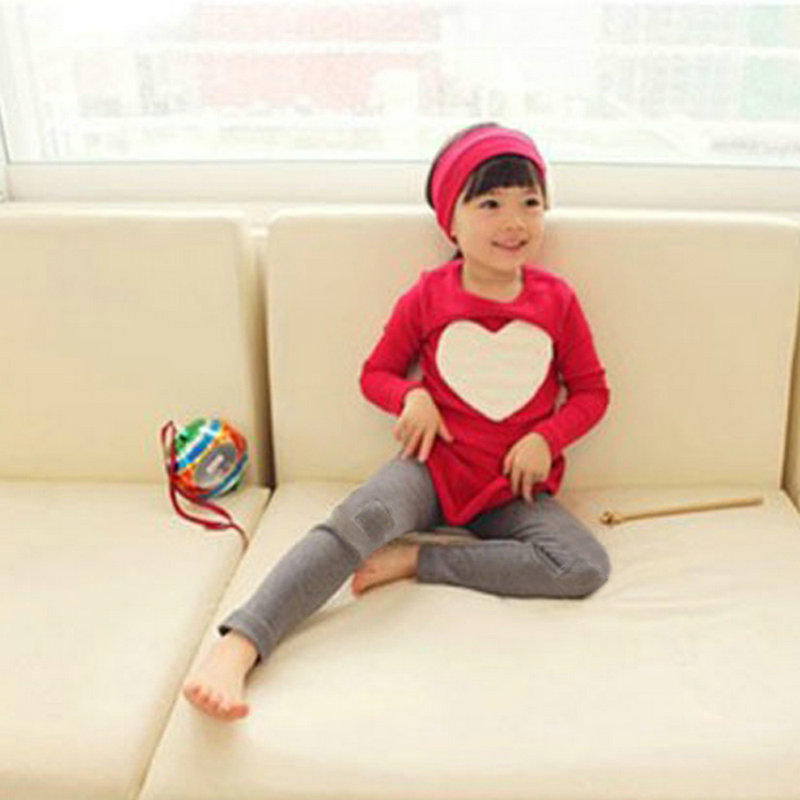 Children Girls Clothes 3 Pieces Set Kid Casual Long Sleeve Top Dress Leggings Pant Headband For 2-7 Years