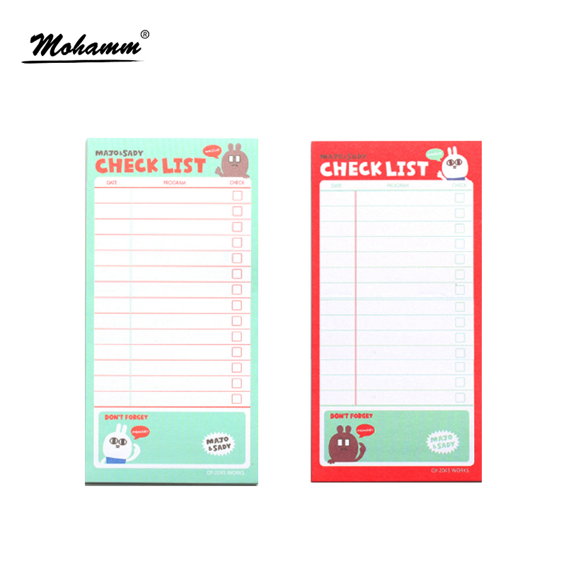 Checklist To Do List Post It Planner Stickers Paper Sticky Notes Cute Korean Stationery Office Supplies creative paper diary planner stickers sheet to do list time post it schedule office and school supplies cheap korean stationery