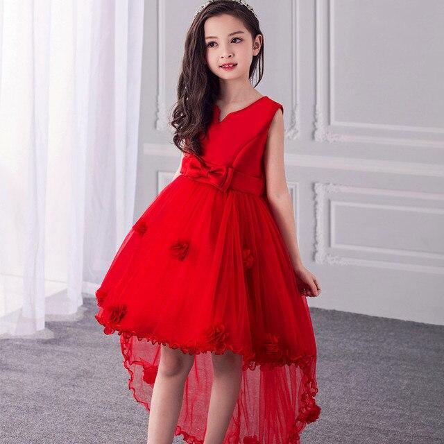 5d5d9c405 3-13 años adolescente flor chica vestido de fiesta para cumpleaños boda  niñas alta calidad