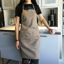 Delantal impermeable de Chef para hombre y mujer, delantal de cocina impermeable con dos bolsillos, 2019