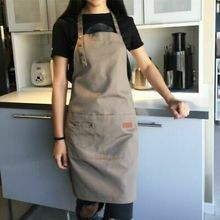Waterproof Apron 2019 NEW Men Women Chef Cooking Kitchen Double Pocket