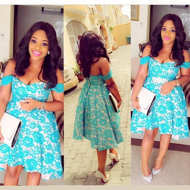 Blue Lace Short Prom Dress 2016 Off Shoulder Simple Beauty A Line ...