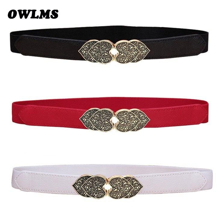 New Design Vintage Cummerbunds HOT Carved Bow Buckle Waistbands Girl Dress Belts PemeHb Thin Elastic Waistband Wedding Belt Gift
