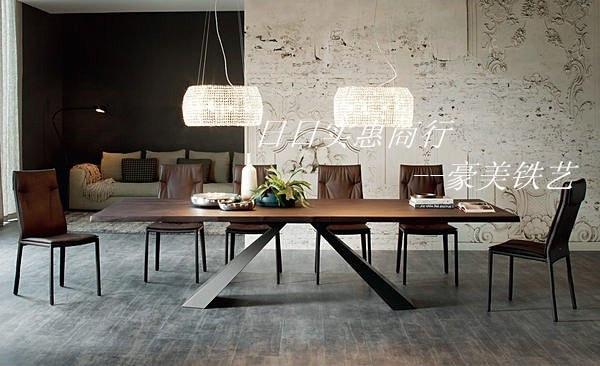 Nordic ikea industrial loft style table wood work table legs steel
