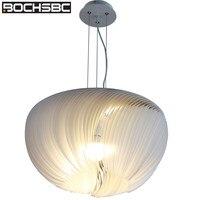 BOCHSBC современный пергамент абажур подвесные светильники для столовой спальни подвесной светильник Кухня Бар арт лампа освещение светильни