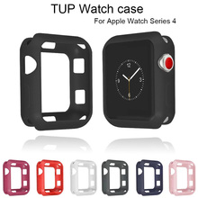 TPU Soft Watch Case For Apple Watch Series 4 Protection Cover For iwatch 44mm 40mm Bumper Fall Resistance Frame Accessories uebn fall resistance soft silicone case for apple watch iwatch series 4 3 2 1 cover frame full protection 38 42 40 44mm case