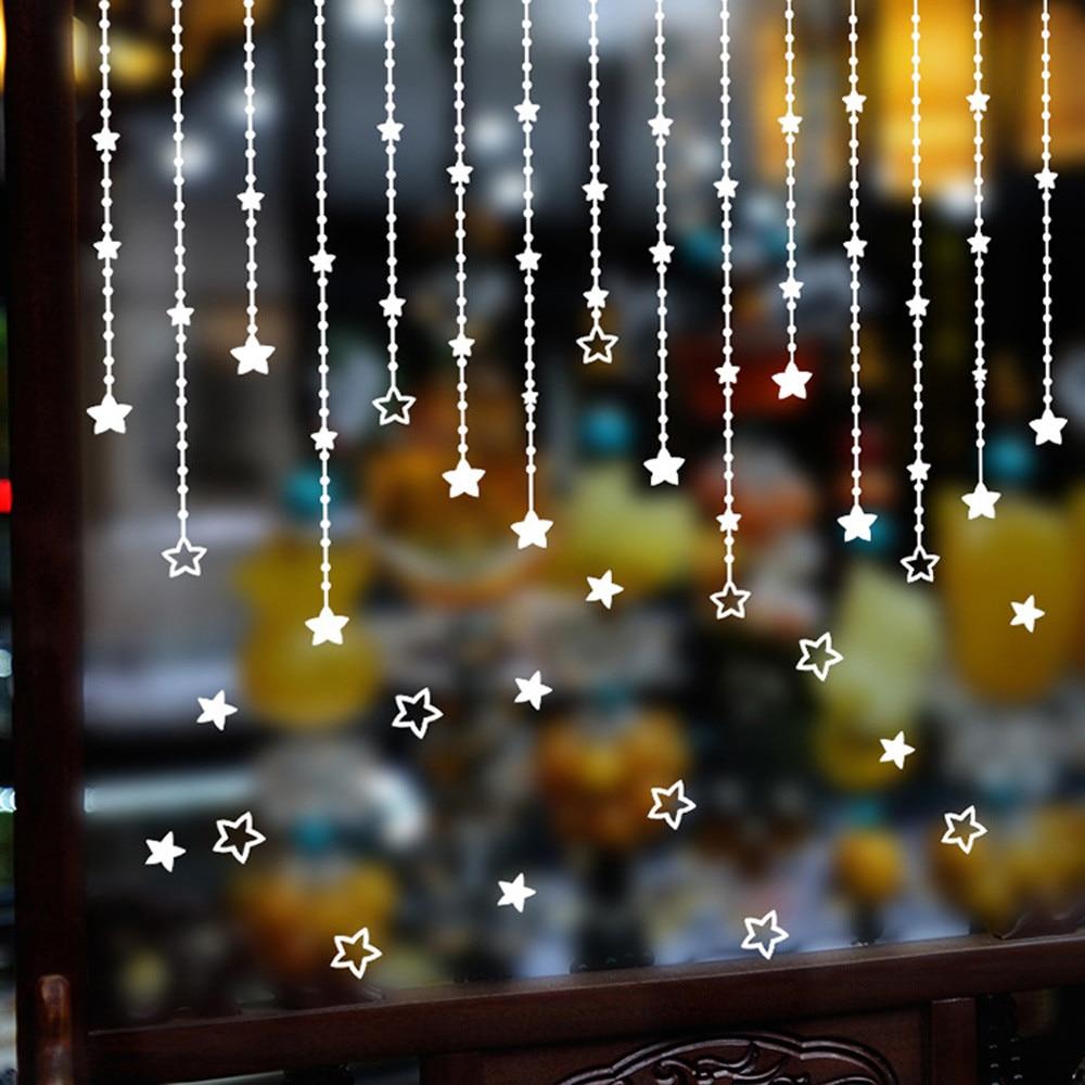 wall stickers home decor diy christmas decoration merry christmas tree ornaments adesivo de. Black Bedroom Furniture Sets. Home Design Ideas