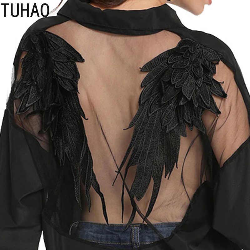TUHAO 2019 Весна Рубашки Топ для женщин s Топы корректирующие Модные Летние Шифоновая Блузка с длинным рукавом Повседневная рубашка черны