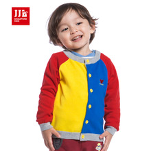 baby boys cardigan jacket single-breasted sweater toddler clothing contrast color for newborn boys coat