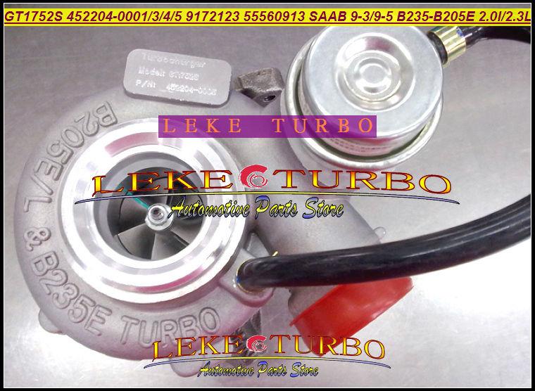Turbo GT1752S 452204 452204-5005S 55560913 9198631 5955703 9080290 Turbocharger For SAAB 9.3 9.5 9-3 9-5 B235E B205E 2.0L 2.3L P
