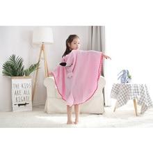 Children's towel 2019 children 100% cotton bathrobe male baby girl spring animal hooded bath towel children cartoon towel 110CM