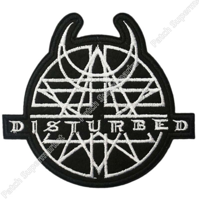 "4.1"" DISTURBED Logo Music Rock Band LOGO Embroidered NEW ..."