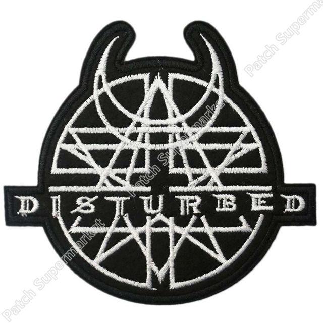 41 Disturbed Logo Muziek Rock Band Logo Geborduurde Nieuw Ijzer Op
