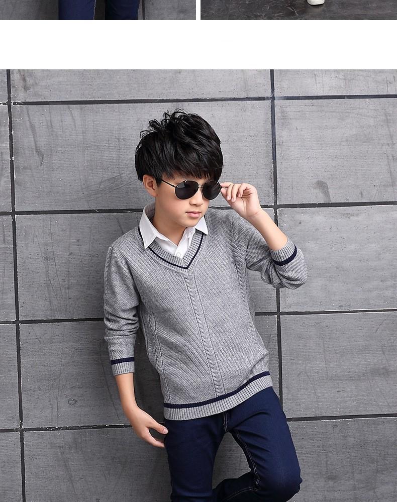 HTB14UTCOXXXXXcLXVXXq6xXFXXXf - 2017 Children's sweater Winter new  Keep warm Cashmere boy sweater V-collar Kids for boys Children's clothing Winter clothing