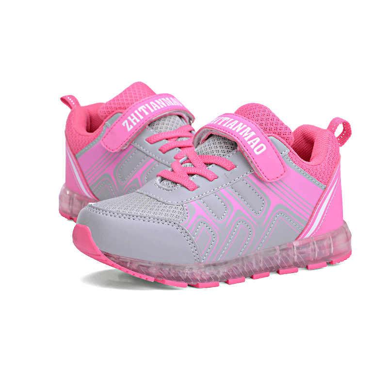 ขนาด 25-37 เด็กเรืองแสงรองเท้าผ้าใบเด็ก Led รองเท้าส่องสว่างเด็ก Led USB ชาร์จรองเท้าเรืองแสงเด็ก hook Loop