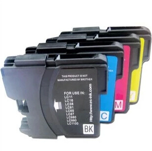Cartouche dencre hisaint 4 pièces pour brother LC980 pour imprimante à jet dencre brother MFC-5890CN/MFC-6490CW/MFC-6890CDW/DCP-145C