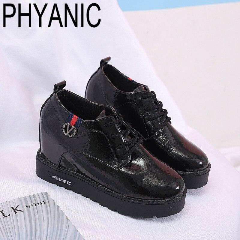 Phyanci con Shoes Casual New Zeppa Donna Lace Style Nero Mujer up  Piattaforma Spring British zeppa 2019 pumps rosso Zapatos Ladies WwxxnSdqI de84da9c55f