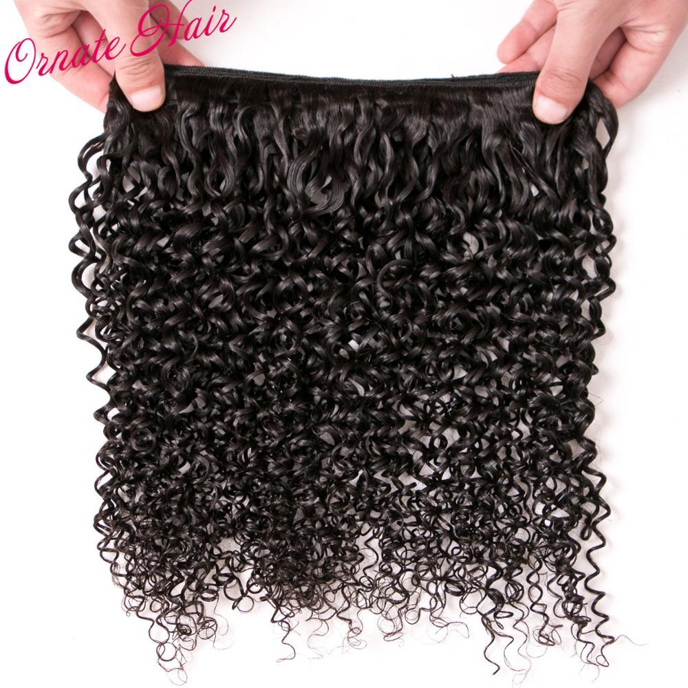 Богато 3 пучков монгольский странный вьющиеся волосы Связки вьющиеся ткань Пряди человеческих волос для наращивания Волосы remy Связки стран...