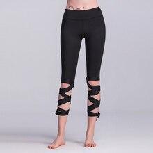 f140e833052 New fashion Lace up strappy leggings women fitness slim sexy bandage summer  legging sportswear athleisure elastic