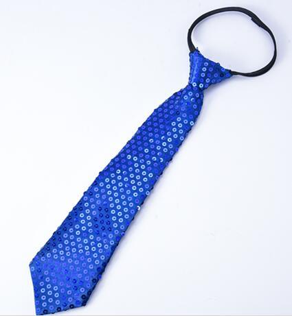 DKBLINGS 12 шт. Для женщин/мужчин/блестками на воротнике шеи галстук-бабочка в стиле «хип-хоп» шейный галстук уличный концерт accessorieas - Цвет: royal blue