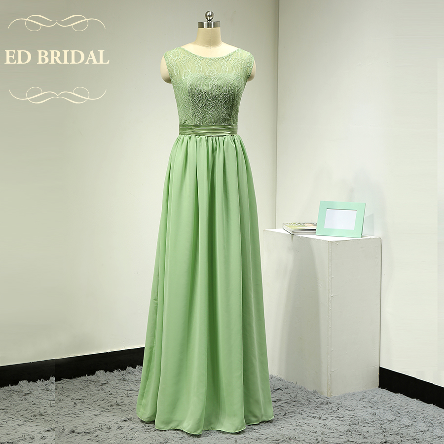 Aliexpress buy custom made illusion lace chiffon sage green aliexpress buy custom made illusion lace chiffon sage green long bridesmaid dresses women formal party dress for special occasions from reliable ombrellifo Gallery