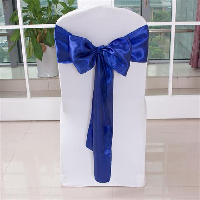 diy organza chair covers beige accent chairs 275cm 17cm home hotel wedding banquet party cover fabric sash bows swag decoration