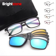 Full Rim Polarized Sunglasses Men Women 5 In 1 Magnetic Clip