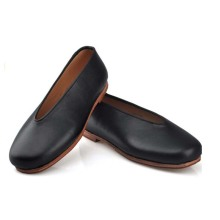 Expensive Genuine Leather Shoes Kong Fu Shoes Chinese Traditional Flats Breathable Leather Sole With Black Rubber