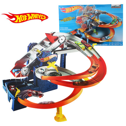 Hot Wheels Roundabout Electric Carros Track Model Cars Train Kids Plastic Metal Toy cars Hot Toys For Children Juguetes FDF28 electric track racing car 1 43 620cm rail road roller double rc toy for boys gift kids toy cars educational toys for children