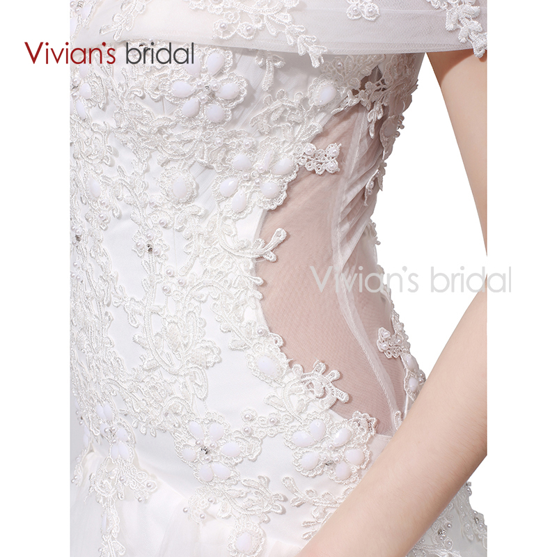 037e76582 Vivian's Bridal Boat Neck Off Shoulder Ruffled Mermaid Wedding Dress Lace  Sequin Bridal Wedding Gown WD450 2-in Wedding Dresses from Weddings &  Events on ...