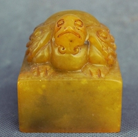 Dynasty Palace Chinese Shoushan Stone Tortoise Turtle imperial Seal Stamp Signet
