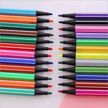 36 цветов, высокое качество, художественная ручка с акварельным рисунком, детская цветная ручка Канцелярия для учеников, школьные офисные пр...